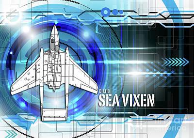 Dh.110 Sea Vixen Art Print