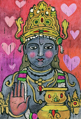 Mixed Media - Dhanvantari by Jennifer Mazzucco
