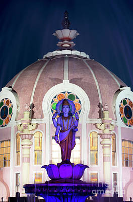 Photograph - Dhanvantari Statue At Night by Tim Gainey