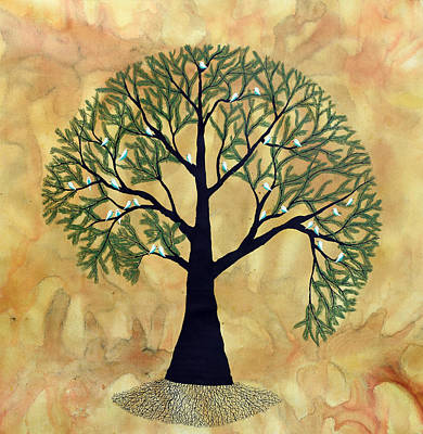 Tree Roots Painting - Dhanvastra by Sumit Mehndiratta