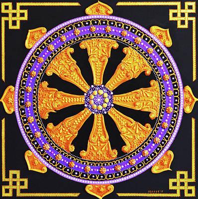 Painting - Dharma Wheel by Olesea Arts