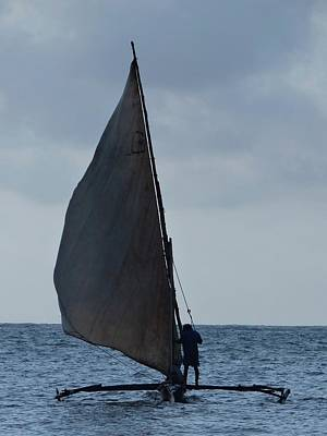 Exploramum Photograph - Dhow Wooden Boats In Sail by Exploramum Exploramum