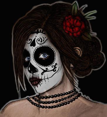 Dia De Los Meurtos Art Print by Angela Conway