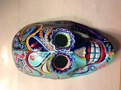 Painting - Colorful Life Mask Adode Homes Auction by Patti Schermerhorn