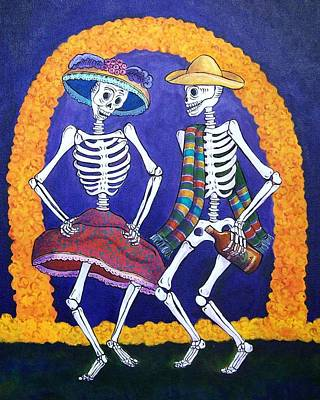 Calavera Painting - Dia De Los Muertos by Candy Mayer