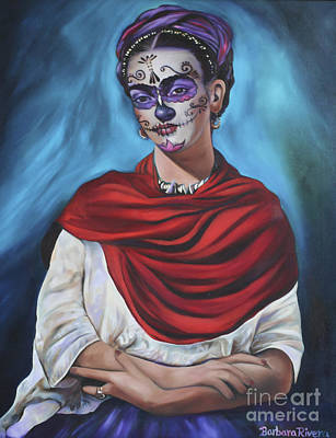 Mexicano Painting - Dia De Los Muertos Frida by Barbara  Rivera