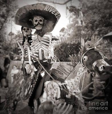 Photograph - Dia De Los Muertos In Sepia Tone by Gregory Dyer