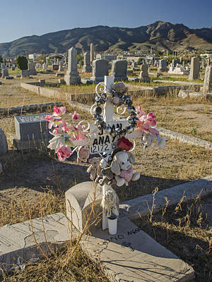 Photograph - Dia De Los Muertos - Infant's Grave 2 by Allen Sheffield