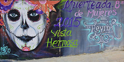 Photograph - Dia De Los Muertos Mural by Tatiana Travelways