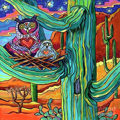 Painting - Dia De Los Muertos-night Owls by Alexandria Winslow