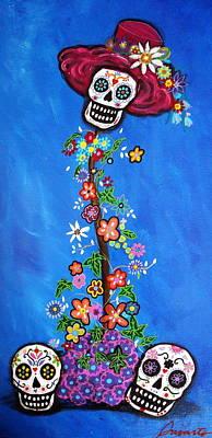 Print featuring the painting Dia De Los Muertos by Pristine Cartera Turkus