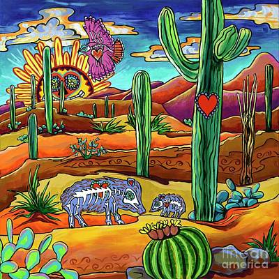 Painting - Dia De Los Muertos-rise And Shine by Alexandria Winslow