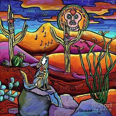 Dawn Of The Dead Painting - Dia De Los Muertos-songs Of The Night by Alexandria Winslow