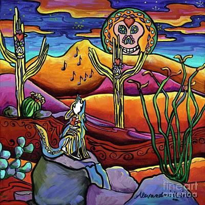 Painting - Dia De Los Muertos-songs Of The Night by Alexandria Winslow