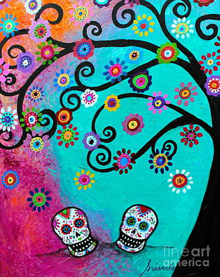 Painting - Dia  De Los Muertos Special Couple by Pristine Cartera Turkus