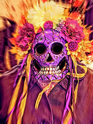 Photograph - Dia De Muertos Mask by Sandra Selle Rodriguez