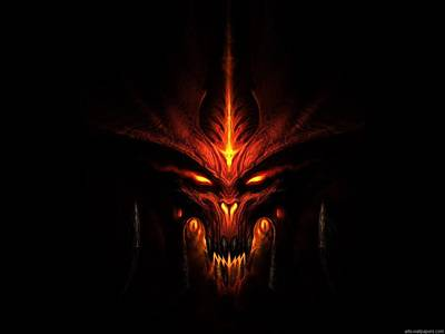 Black Digital Art - Diablo IIi by Maye Loeser