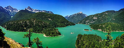 Photograph - Diablo Lake Overlook Panorama by Dave Files