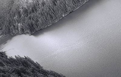 Photograph - Diablo Lake Washington Black And White by Dan Sproul