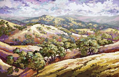 Painting - Diablo Range by Hans Neuhart
