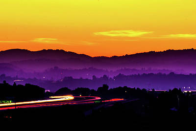 Concord Photograph - Diablo Sunset  by Brooks Creative -Photography and Artwork By Anthony Brooks