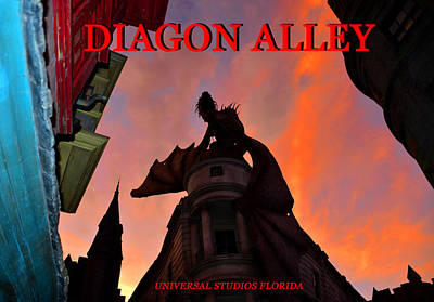 Photograph - Diagon Alley And Sky by David Lee Thompson