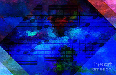 Digital Art - Diagonal Diapente by Lon Chaffin