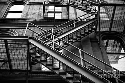 Photograph - Diagonal In Vancouver Mono  by John Rizzuto