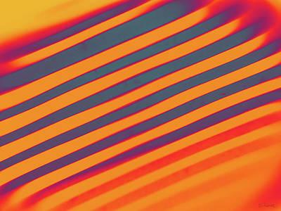 Antique Maps - Diagonal Reflection - Orange by Shawna Rowe