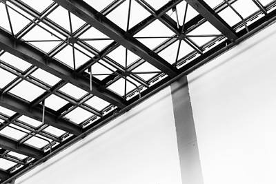 Photograph - Black Diagonal Seamless Strut by John Williams