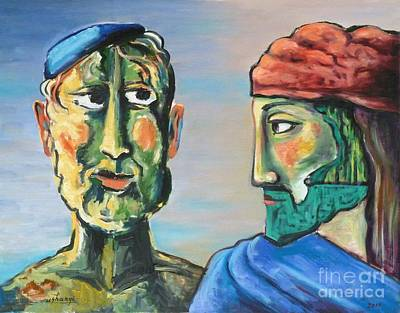 Painting - Dialogue by Ushangi Kumelashvili