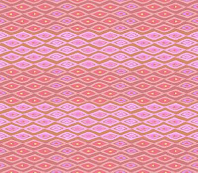 Digital Art - Diamond Bands Salmon by Karen Dyson