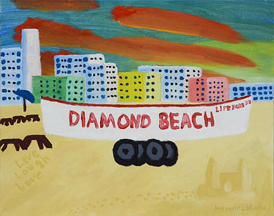 Autism Painting - Diamond Beach by Anthony LaRocca