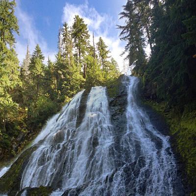Coast Photograph - Diamond Creek Falls by Ingrid Smith-Johnsen