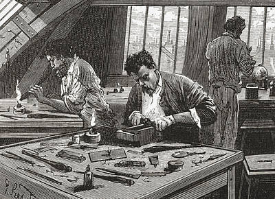 Diamond Cutting In Amsterdam, The Art Print by Vintage Design Pics