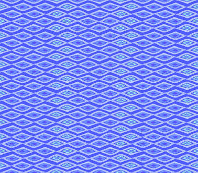 Digital Art - Diamond Eyes Cobalt by Karen Dyson