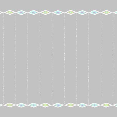 Digital Art - Diamond Eyes Row Gray by Karen Dyson