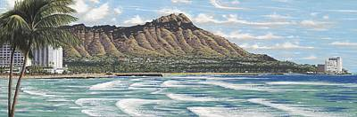 Haleiwa Painting - Diamond Head by Andrew Palmer