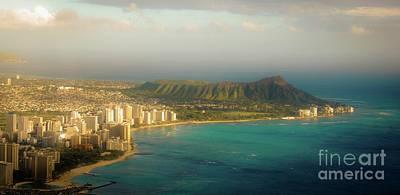 Photograph - Diamond Head Crater - Waikiki Afternoon by D Davila