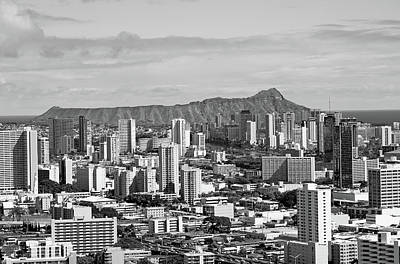 Photograph - Diamond Head From Punchbowl by Robert Meyers-Lussier