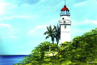 Diamond Head Lighthouse #10 Art Print by Donald k Hall