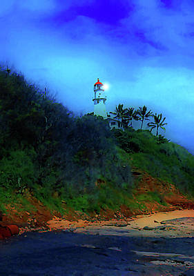 Diamond Head Lighthouse Art Print
