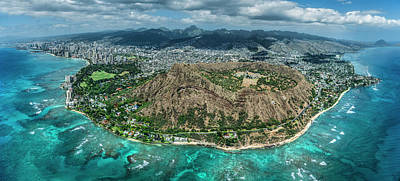 Diamond Head Photograph - Diamond Head Overview by Sean Davey