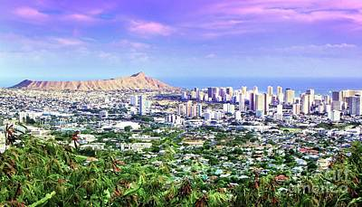 Photograph - Diamond Head Skyline by Kristine Merc