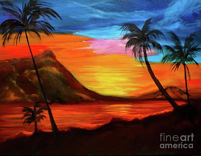 Painting - Diamond Head Tropics Discount by Jenny Lee