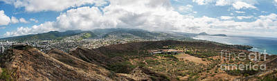 Photograph - Diamond Head View Panoramic by Jason Kolenda