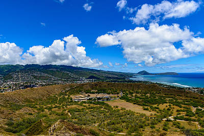 Photograph - Diamond Head Wide View 2 by Michael Scott