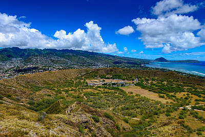 Photograph - Diamond Head Wide View by Michael Scott