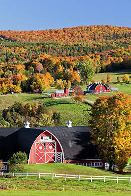 Photograph - Diamond Heart Farm Autumn 2 by Alan L Graham