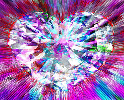 Diamond Heart Art Print